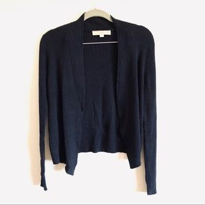 LOFT Petite open front Cardigan Navy Blue Large